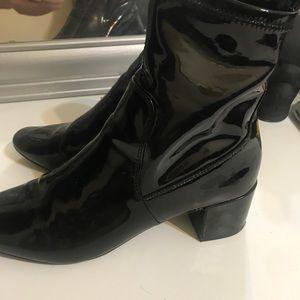 Aldo Patent Leather Midi Booties